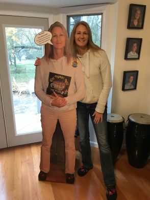 Heather and her cutout